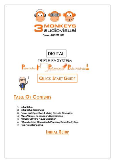 Digital Triple PA Quick Start Guide