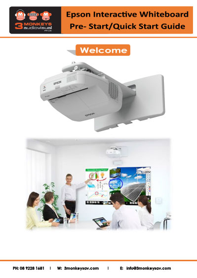 Epson Interactive Whiteboard Quick Start Guide