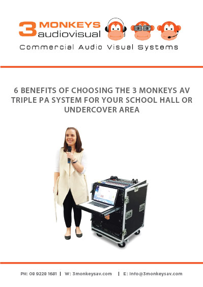 6 Benefits of 3 Monkeys AV Triple PA System for School Halls