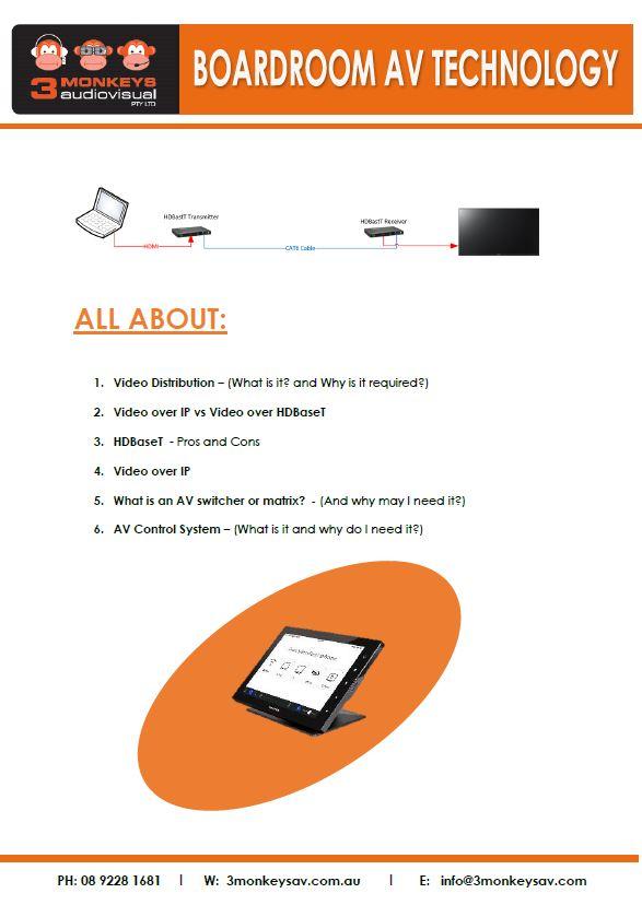 Boardroom AV Technology